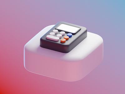 Calculator app calculator app application icon 3d icon clean skeuomorph buttons calc 3d render 3d model blender 3d app 3d ios 14 big sur app calculator