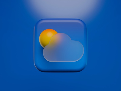 ⛅️ 3D Weather app icon blender mac os big sur app icon mac os big sur mac os icon 3d icon app 3d minimal clean illustration weather icon weather app 3d icons app icon app icon 3d 3d icon