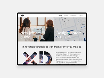 Website proposal for design team