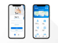 Mobile App UI | Online Medical app vector typography userinterface uiux uidesign sketch photoshop figma design adobe