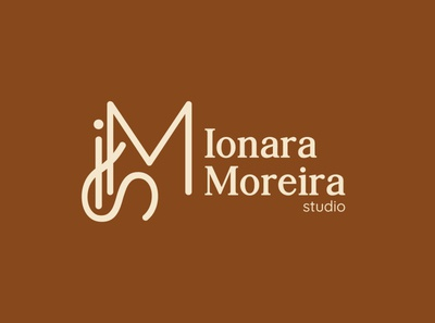 Ionara Moreira studio símbolo typography studio vector illustration logo branding architecture graphic design brand design