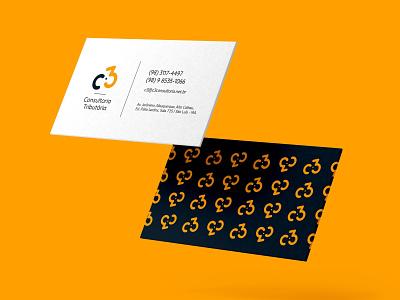 Cartão c3 vector typography branding brand design graphic design business card
