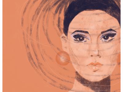 NOVITA S 1965 editorial illustration adobe fashion illustration illustration portrait photoshop