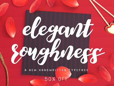 Elegant Roughness Font calligraphy lettering fonts typeface thick elegance elegant script handmade handwritten font rough