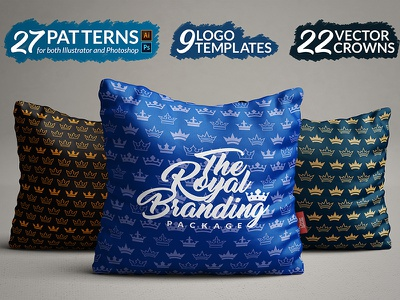 The Royal Branding Package templates icons vector logos branding royalty crown royal patterns