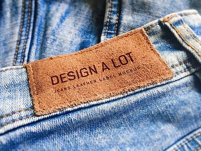7 Jeans and Pants Label Mockups freebie engraved leather label fashion apparel pants jeans mockups mockup denim