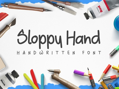 Sloppy Hand Font sloppy brush handmade fonts font handwritten freebies freebie free