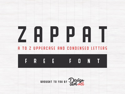 Zappat Display Font condensed bold uppercase thick display fonts font freebies freebie free