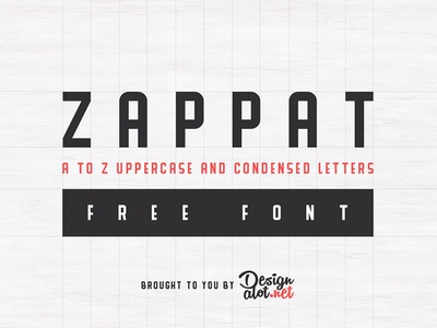 Zappat Display Font