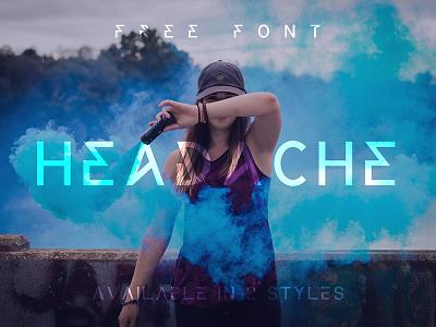 Headache Free Font typography sans serif font free fonts free font freebies freebie