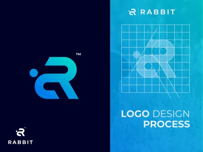 Rabbit branding and identity logotype awesome logo grid logo designinspiration animal flat monogram rabbit illustration minimal icon vector branding logo design