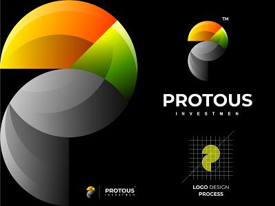 Protous business modern logo designinspiration icon colorful logotype logo grid logo awesome logo brand identity brand animal bird