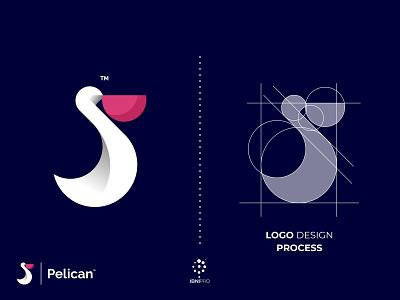 Pelican goldenratio unique colorful simple pelican illustration bird designinspiration branding logotype logo icon grid logo awesome logo animal