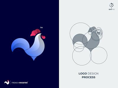 FrenchRooster modern simple logo awesome logo logotype bird logoinspiration colorful branding logo icon goldenratio rooster grid logo animal