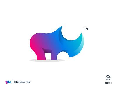 Rhinoceros goldenratio rhino vector logoinspiration colorful branding logotype logo icon grid logo awesome logo animal