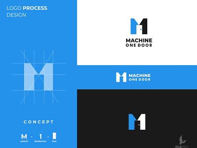 Machine One Door logoinspiration branding icon dualmeaning memorale logotype appropriate simple logo