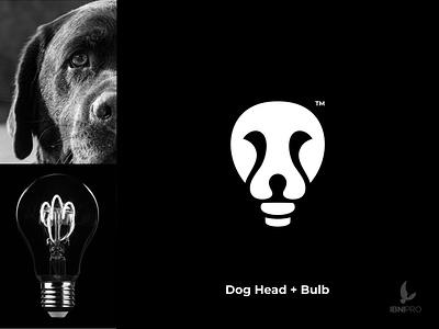 Dog Head   Bulb bulb dog vector logoinspiration icon illustration goldenratio animal grid logo logotype logo