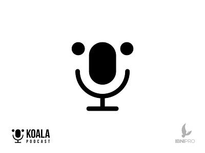 Koala Podcast podcast koala grid logo logotype vector goldenratio logoinspiration branding animal icon logo
