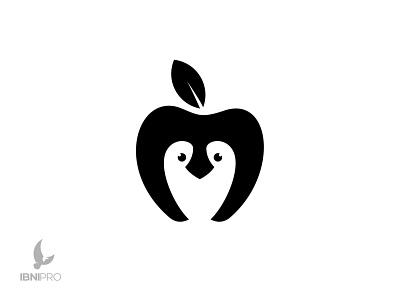 Apple + Pinguin memorable simple logo smartlogo dual meaning apple bird illustration vector goldenratio logoinspiration animal icon grid logo logotype logo