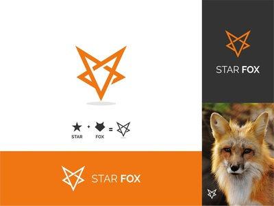 Star Fox simple logo dualmeaning starfox star fox awesome logo vector goldenratio logoinspiration branding animal icon grid logo logotype logo