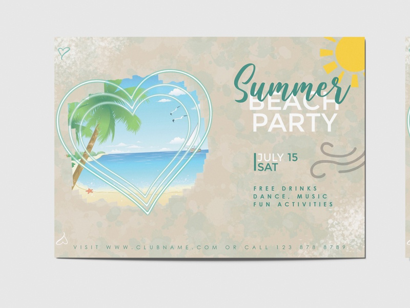 Summer Party Flyer business card photo editor adobe lightroom photo editing photoshop graphic design adobe photoshop poster template flyer template party flyers party flyer poster flyer