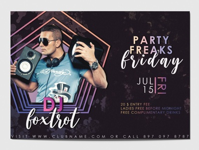 Club Party Flyer illustration photoshop adobe photoshop graphic design flyers flyer design club flyers flyer template flyer artwork party flyers club flyer design club flyer party event party flyer poster flyer
