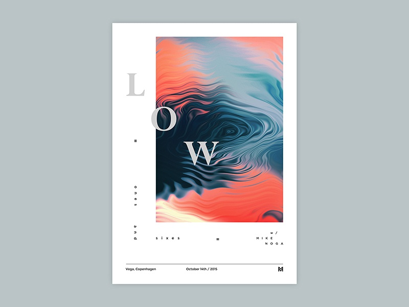 Gig poster project - LOW typography gigposter poster print graphicdesign