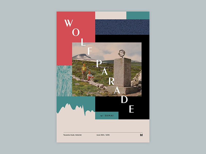 Gig poster project - Wolf Parade