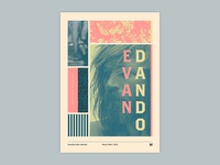 Gig poster project - Evan Dano