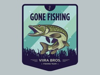 Gone Fishing patch