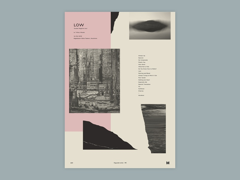 Gig poster project - Low (2019) print glitch gigposter poster graphicdesign