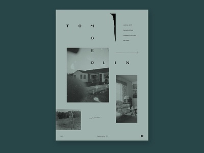 Gig poster project -Tomberlin