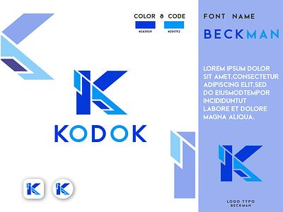 Modern KODOK Logo Design logo simple logo kodok logo curtting logo k brand identity creative k logo modern k logo k letter logo k logo