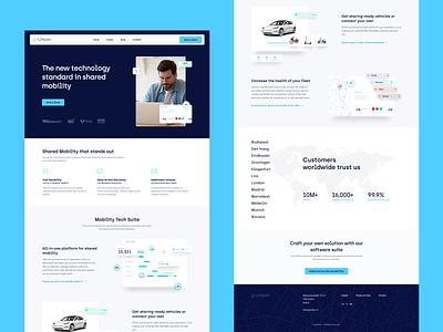 goUrban - WebSite coding web design website web micromobility minimal layout ui ux