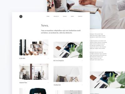 MoGraph Sketch Template -- News blog news minimal agency studio ui ux clients company portfolio template