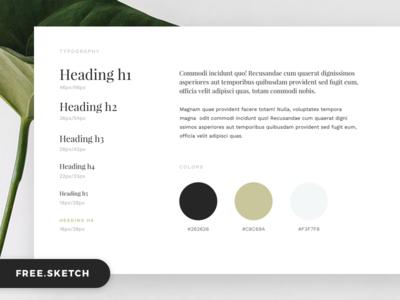 UI Starter Kit typography minimal ui kit