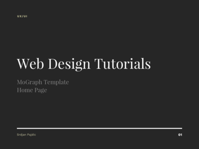 Free Web Design Tutorials -- MoGraph Template - Home Page tutorial free webdesig ui