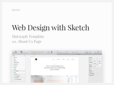 Web Design with Sketch: About Us typography layout sketch tutorial