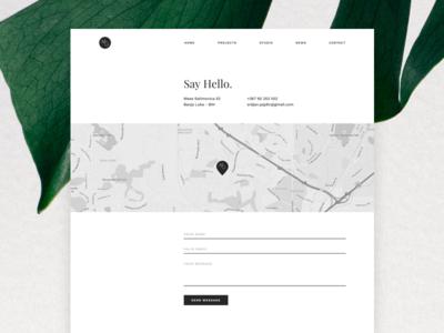 MoGraph Sketch Template -- Contact Page blog news minimal agency studio ui ux clients company portfolio template