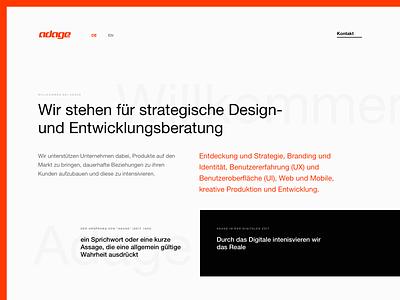Adage layout ui ux minimal design