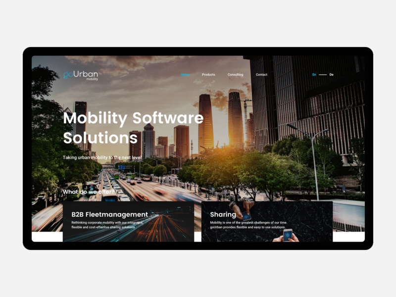 goUrban Mobility webdesign layout ui ux