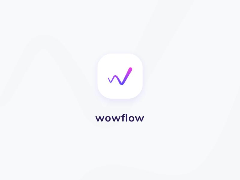 wowflow - logo branding app branding app icon appicons logo