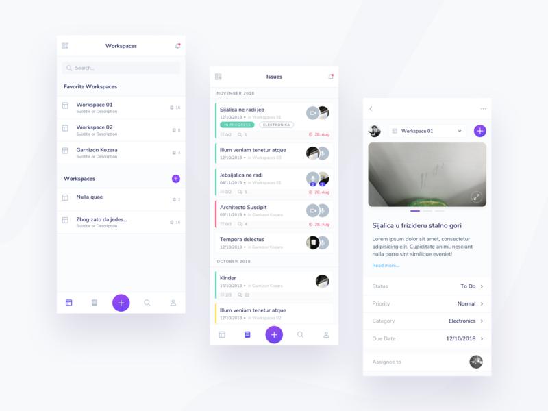 wowflow - management tool minimal ui ux application ui app