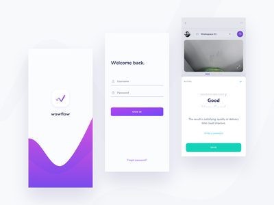 wowflow - management tool -- 02 app branding appdesign design ui ux