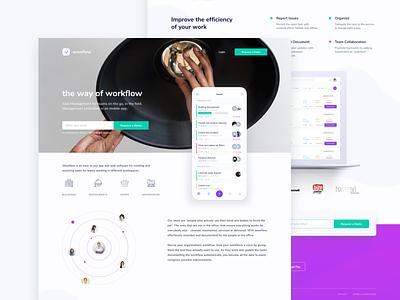 wowflow - landing page app design layout minimal ui ux