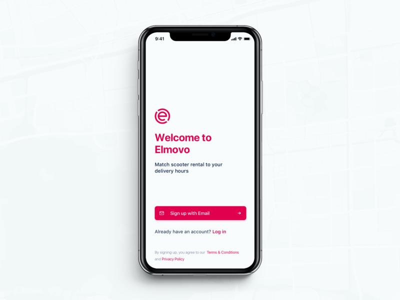 Elmovo - Sign up app design minimal design ui ux