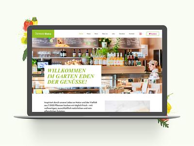 venuss bistro restaurants webdesign layout design ui ux