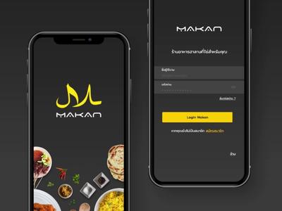 First impression Login State Makan App Halal Food