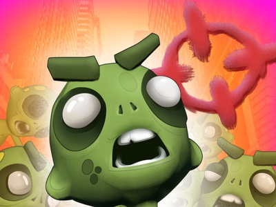 Zombie Shooter poster shooter zombie adobe photoshop illustraion iconography illustration art mobile game gaming. logo graphic design 3d