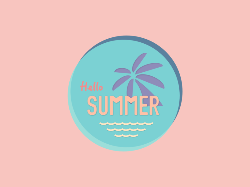 Summer Logo|Weekly Warm-up logo design icon design icon sketch logo design dribbbleweeklywarmup